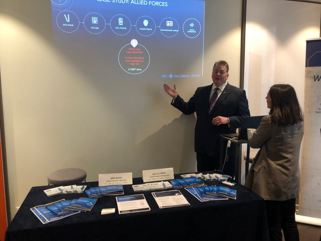 Clearspeed Exhibits at Insider Threat Mitigation Symposium Brussels Kris Brost 4