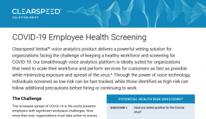 Employee Health Screening