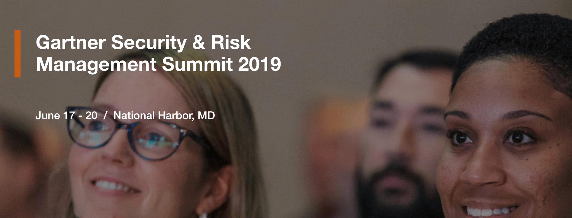 Gartner Security & Risk Summit 2019